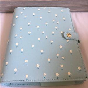 NWT Kikki K Large Personal Planner Mint Flowers